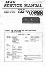 AIWA AD-WX200 AD-WX20 AD WX200 WX20 - SERVICE MANUAL IN COLOR VERSION - English