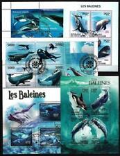 Baleines et dauphins lot de 10 séries oblitérés en feuillet