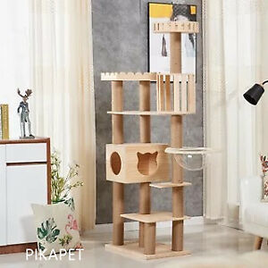 7-layer Pine Wood Luxury Cat Climbing Tree Cat Tree AU STOCK SALE