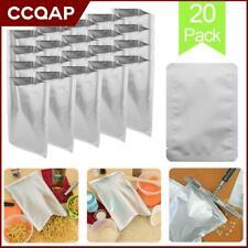 10*15cm Mylar Aluminum Moisture Static Proof Bags Long Term Food Storage 20 Pack