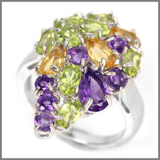 Natural Citrine Sterling Silver Amethyst Fine Jewellery