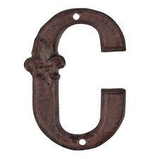 Esschert Design Fonte Numéro de Domicile C Braun Métal Fer Lettre Extension