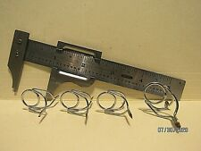 4 Surf & Casting Rod Guides - Asst. Sizes - Chromed - Pacific Bay Co. - Nos!