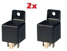 2 X Auto Automotriz Alarma de montaje Instalar 12v 30a 40 a Amp 5 Pin relé Amp Nueva