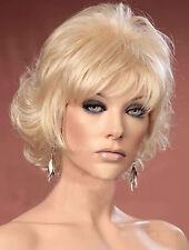 Ladies Tousled Layers Platinum Blonde Short Fashion Wig