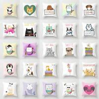 Cartoon Anime Animal Polyester Pillow Case Cushion Cover Waist Cover Home Decor