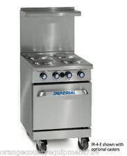 New 24 4 Burner Electric Range Amp Standard Oven Imperial Ir 4 E 4581 Restaurant