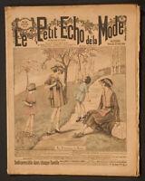 'LE PETIT ECHO DE LA MODE' FRENCH VINTAGE NEWSPAPER 25 APRIL 1920