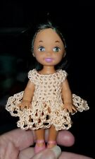Hand crocheted Mattel Kelly Doll Clothes peach loops