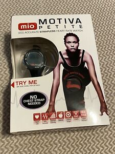 Mio Motiva Petite ECG Strapless Heart Rate Watch w/extra Red Watch Band-NEW!!!!!