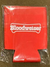 Redneck Beer Koozie Holder Red Bloodweiser NEW MIP
