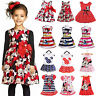 Kids Baby Girls Minnie Mouse Party Tutu Dress Tops Summer Casual Tunika Sundress