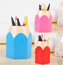 Makeup Brush Vase Pencil Pot Creative Pen Holder Stationery Tidy Desk Storage