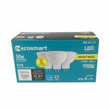 ECOSMART 50W (7.5w) Bright White MR16 GU5.3 Dimmable LED Light Bulb 3-Pack