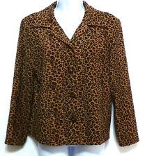 Briggs Ladies Brown Animal Print Brushed Polyester Petites Jacket - Sz S (4-6)