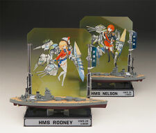 Sharing Hobby Painting Completed 1/2000 HMS NELSON + RODNEY (2 in box)