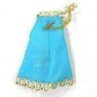 Vintage Topper Dawn 1970s Blue Mini Dress w/ Gold & White Trim HK