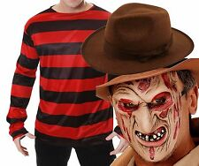 Freddy Freddie Krueger Elm St Halloween Fancy Dress Costume Jumper Mask Hat