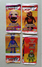 FIVE NIGHTS AT FREDDY'S 2 TRADING CARDS X 04 ORIGINAL ENVELOPES WOOW SEALED.!