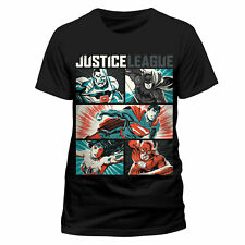 Official Justice League T-Shirt Pop Art Comic Mens Black M L XXL