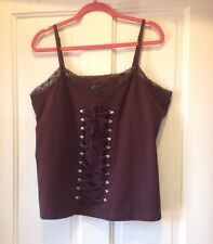 Fashion Bug Lace Up Corset Cami 22/24 Brown New NWOT Steampunk Pirate
