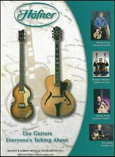 Hofner Jazzica Custom & Cavern guitar ad 8 x 11 advertisement Denny Jiosa