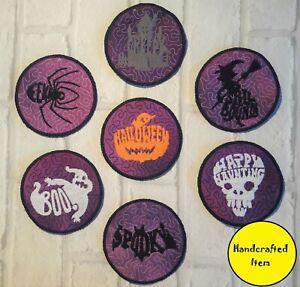 Spooky Drinks Coasters, Halloween, homewares, housewarming gift, gothic design