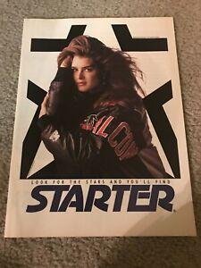 Vintage BROOKE SHIELDS STARTER Poster Print Ad 1990s ATLANTA FALCONS JACKET