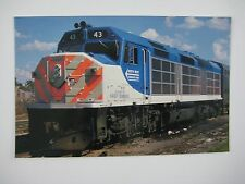 NorthWest Suburban Mass Transit #43 EMD 68' F40C Passenger Diesel Train Postcard