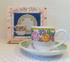 """Mary Engelbreit Time For Tea Cup & Saucer w/Box """"Bloom Where You're Planted"""""""