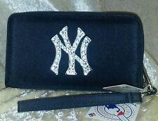 New York Yankees Cell Phone Wristlet Wallet Rhinestone Bling MLB Licensed!