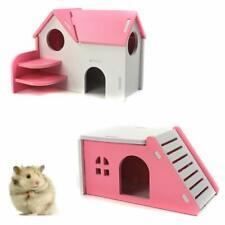 Pivby Hamster Hideout House Wooden Living Hut Exercise Funny Nest Toy For Mouse,