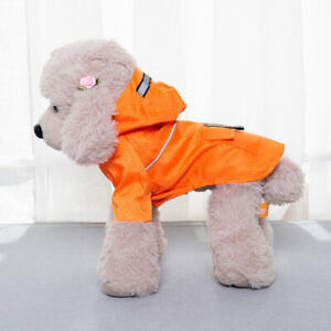 Soft Dogs Jacket Clothes Pet Dog Raincoat Fashion Hoodie Thick Dog Clothes YD