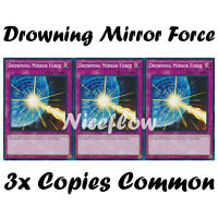 3x Drowning Mirror Force - LEDD-ENB24 - Common - 1st Edition MINT YuGiOh PLAYSET