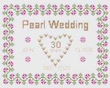 Corail mariage coeurs Kit CARTE Point de croix par florashell