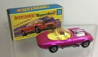 Matchbox Superfast  - 36 Draguar in Metallic Candy Pink in Original Box NMIB