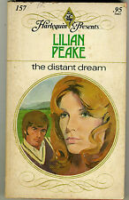 Harlequin Presents  #157 THE DISTANT DREAM by Lilian Peake (1976)