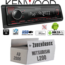 Kenwood Autoradio für Mitsubishi L200 ab 2006 MP3 USB iPhone Android Einbauset