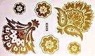 FLASH UNA VOLTA Tatuaggio temporaneo oro 6 pezzi bracciale collana PIEDE Henna