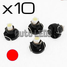 10 Red SMD LED T3 Neo Wedge 12v Interior LED Bulb