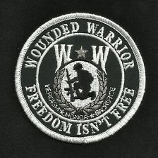 WOUNDED WARRIOR Freedom Isn't Free Honor Heroism Military Motorcycle Biker Patch