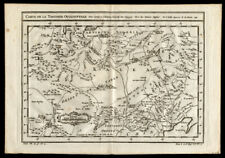 1749 Original Jacques Bellin Engraved Map of Mongolia Siberia Peking Gobi Desert
