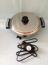 "West Bend Webalco Lustre Craft 11"" Stainless Electric Skillet #7209 SUPER CLEAN"