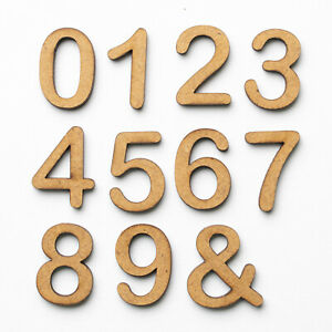 Wooden Numbers And Letters Names MDF Shapes Decoration Scrapbook Embellishments