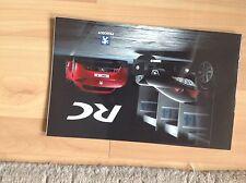 PEUGEOT RC Concept car. Brochure 2002. très difficile à trouver Version Anglaise