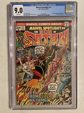 Marvel Spotlight #12 CGC 9.0 (White Pages) Origin Of Son Of Satan 10/73