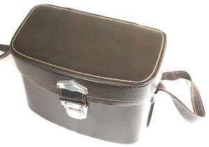 Vintage Hard Brown Leather 28cm x 17cm x 19cm Veny Nice Camera Bag Original