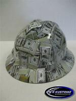 NEW Custom MSA V GARD Full Brim Hard Hat Money Pattern