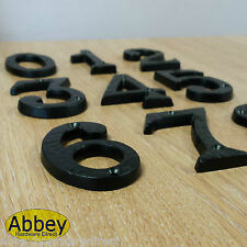 Black Iron Antique Number Metal Door Numbers 1,2,3,4,5,6,7,8,9,0 Numeral  NEW