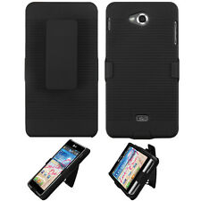 For LG Spirit 4G MS870 COMBO Belt Clip Holster Case Phone Cover Kick Stand Black